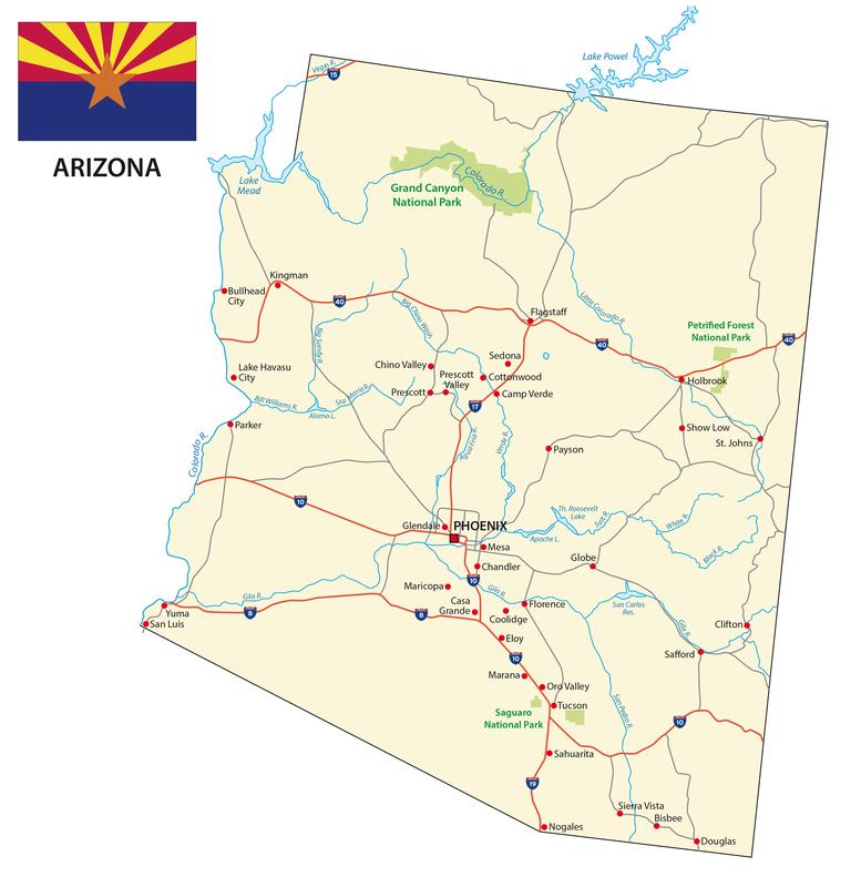 Chandler AZ City Map Porta Potty Rentals